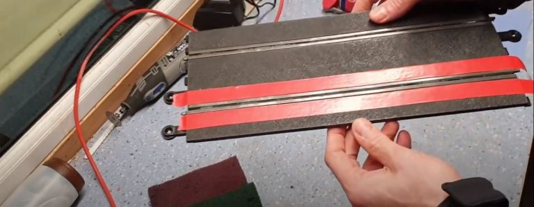 cinta adhesiva pista scalextric